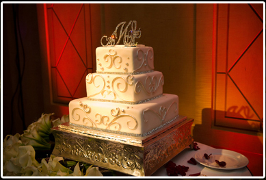 Event Lighting Wedding Cake